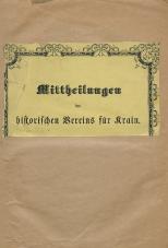 Mittheilungen des historischen Vereins für Krain